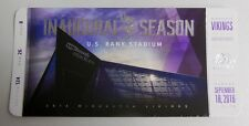 MINNESOTA VIKINGS INAUGURAL GAME US BANK STADIUM COMMEMORATIVE TICKET 6000088