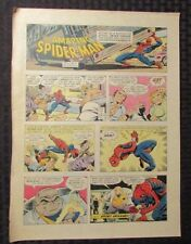 1977 SPIDER-MAN Sunday Comic Strip 9/11/77 John Romita FN vs Kingpin & Goons