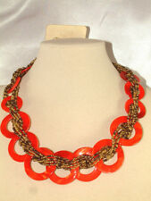 #619 FASHIONABLE BEADED NECKLACE FROM ORION, CIRCLES DESIGN ABOUT 18""