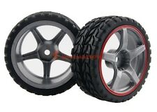 4x RC 1/10 Car On Road Rally Racing Flat Wheel Rim & Rubber Tyre,Tires 9078-6017