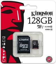 Kingston 128 GB microSD SDXC Class 10 Memory Card TF with Adapter