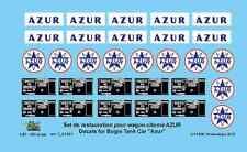 "[FFSMC Productions] H0 scale - 1/87 Decals for tank car ""CLEAR"""