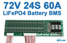 72V 60A LiFePo4 Battery BMS LFP PCM SMT System 24S 24x 3.2V eBike Battery 24x 3V