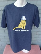 Tidy Cats Litter Day 2003 Feline Kitty Lampshade Grey T-Shirt Size Large