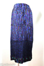 Vintage MISSONI Pleated Wool Long Maxi Skirt Lavander Purple Medium 7 8 9
