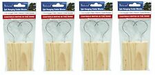 8x Natural Hanging Cedar Blocks (4 x 2pk) Mothballs Wardrobe Protect Brand New