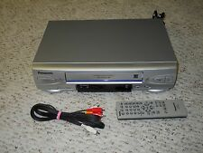 New listing Panasonic 4 Head Hi-Fi Omnivision Pv-V4524S Vhs Vcr with Remote and Cable