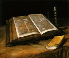 Still Life with Bible Vincent Van Gogh Giclee Fine Art Repro Canvas Print 24x20