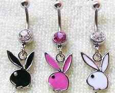 LOT DE 3 PIERCINGS NOMBRIL style playboy neuf