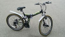 "Folding Mountain Bike 26"" Disc Brakes 21 Speed Shimano Foldable Bike"
