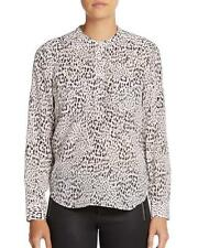 Rebecca Taylor Pink Pearl L/S Ombre Leo Double Pocket Silk Top $275 NWT 2