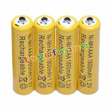 4 AAA R03 1800mAh Ni-MH Rechargeable Battery Yellow P1