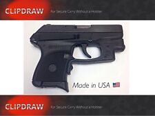 RUGER LC9 9mm CLIPDRAW Holster Belt Pant Clip Conceal Carry Black #LC9 Waistband