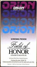 SEALED SCREENER VHS Champ D'Honneur (Field of Honor) CAMPION Denis 1987 5039-TS