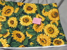 1 Yd Quilting Sewing Fabric Large Sunflowers VIP Print Joan Messmore Cranston