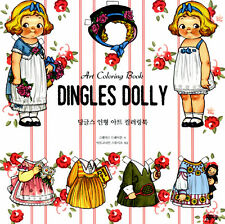 Grace 'Dolly Dingle' Coloring Books for Anti Stress Coloring Paper Doll Cutouts