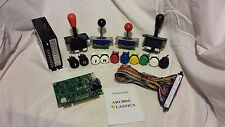 60-1 Bundle incl. Game bd Joystick Buttons Power Supply Jamma Wiring Harness