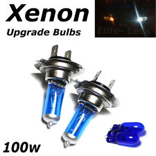 H7 100w SUPER WHITE XENON (499) HID Upgrade Head Light Bulbs 12v + Sidelights I
