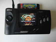 new GLASS screen lens  sega genesis nomad, console, modded tft modern lcd