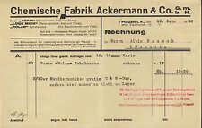 PLAUEN i. V., Rechnung 1932, Chemische Fabrik Ackermann, Bohnerwachs, Schuhcreme