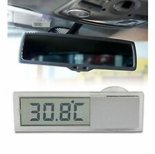 Vehicle Car View Mirror Suction Cup Digital LCD Temperature Thermometer