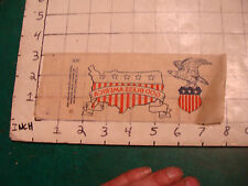 Vintage Paper: early iron on transfer GOD BLESS AMERICA, neat and nice #2