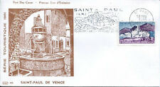 FRANCE FDC - 402 1311 4 SAINT PAUL DE VENCE flamme 7 10 1961