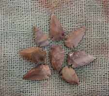 8 arrowheads natural browns & tans bird points replica making jewelry etc ks317