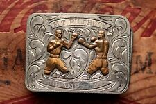 Vintage Boxing Champion 1976 Hand Made Trophy Belt Buckle