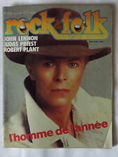 ROCK & FOLK No.205(Fev 1984) D.BOWIE-R.PLANT(Led Zeppelin)-J.LENNON-JUDAS PRIEST