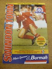 08/04/1995 Swindon Town v Oldham Athletic  . Item appears to be in good conditio