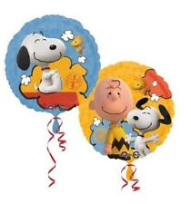 Snoopy Peanut Birthday Foil Balloon, two sided, one supplied deflated, 17""