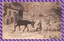 CPA - 58 - LÉGENDES DE St SAULGE - l'âne qui boit la lune