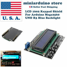 1602 LCD Board Keypad Shield Blue Backlight For Arduino UNO Mega2560 HD44780 USA