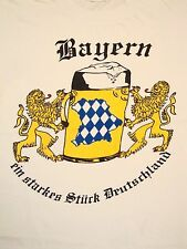 Vintage Bayern Germany German Beer Tourist T Shirt M