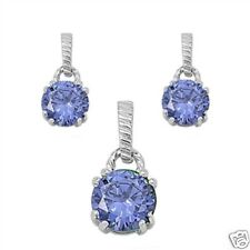 CZ Round 3pcs Sets Sterling Silver 925 Best Price Jewelry Gift Tanzanite CZ