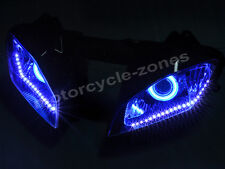 Blue Angel Eye HID Projector Headlight Assembly For Yamaha YZF R6 2008-2011 2009
