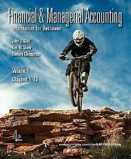 Financial and Managerial Accounting Vol. 1 (Ch. 1-13) softcover with Working Pap
