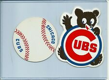 Vintage Chicago Cubs sticker Lot of (2) : baseball & waving Cubbie