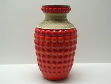 Bay Design Vintage Bodenvase aus Keramik ~1960/70 orange 50 cm Noppenvase Floor