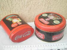 COCA COLA Metal box,tin case lot 2,advertising ad advertise