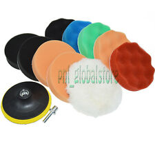 """11PC 7"""" Polishing pad Buffing Pad Set + one M14 Drill Adapter For Car polisher"""