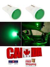 2pcs Green Ceramic LED T10 194 158 168 912 COB Map Dome License Plate Light Bulb