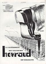PUBLICITE  HEYRAUD  CHAUSSURES  POUR HOMME   MEN' S FASHION  SHOES AD  1928