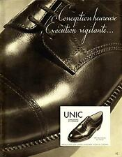 1935 - Chaussures UNIC Shoes - French Ad on glossy paper