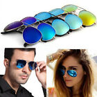 Unisex Fashion Eyewear UV400 Mirrored Coating Lens Aviator Driving Sunglasses
