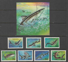 Tanzania Stamps 1993 Sharks complete set, Mint Never Hiinged