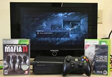 Microsoft Xbox 360 S 250GB Black Console W/ Mafia II & Metal of Honor