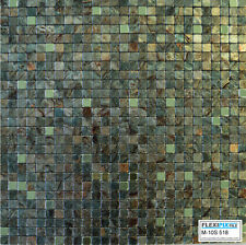 FlexiPixTile-Aluminum Peel & Stick Mosaic Tile Kitchen Backsplash Bath - CAMO