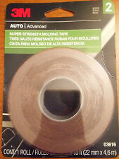 3M Auto Advanced Double Side Super Strength Molding Tape 7/8 in x 15 ft 03616